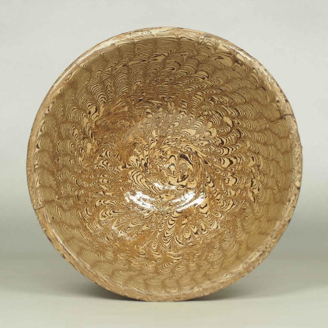 Twisted Marble-Glaze Bowl - 5