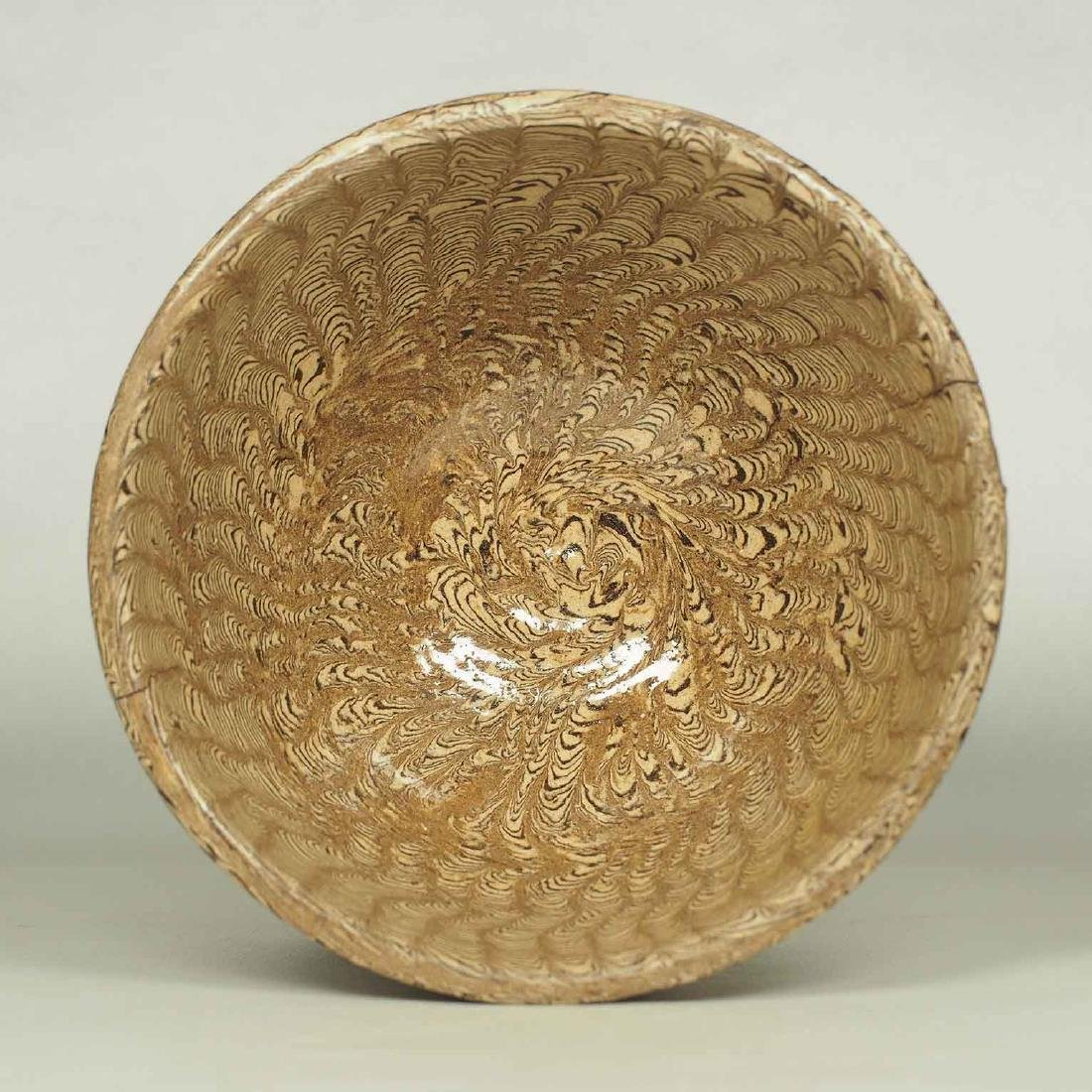 Twisted Marble-Glaze Bowl - 5