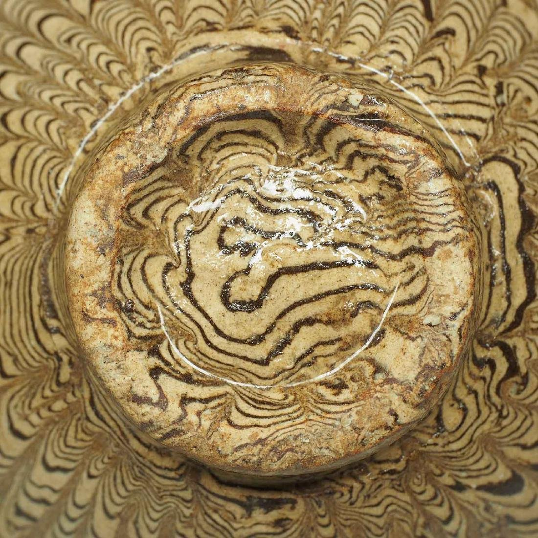 Twisted Marble-Glaze Bowl - 8