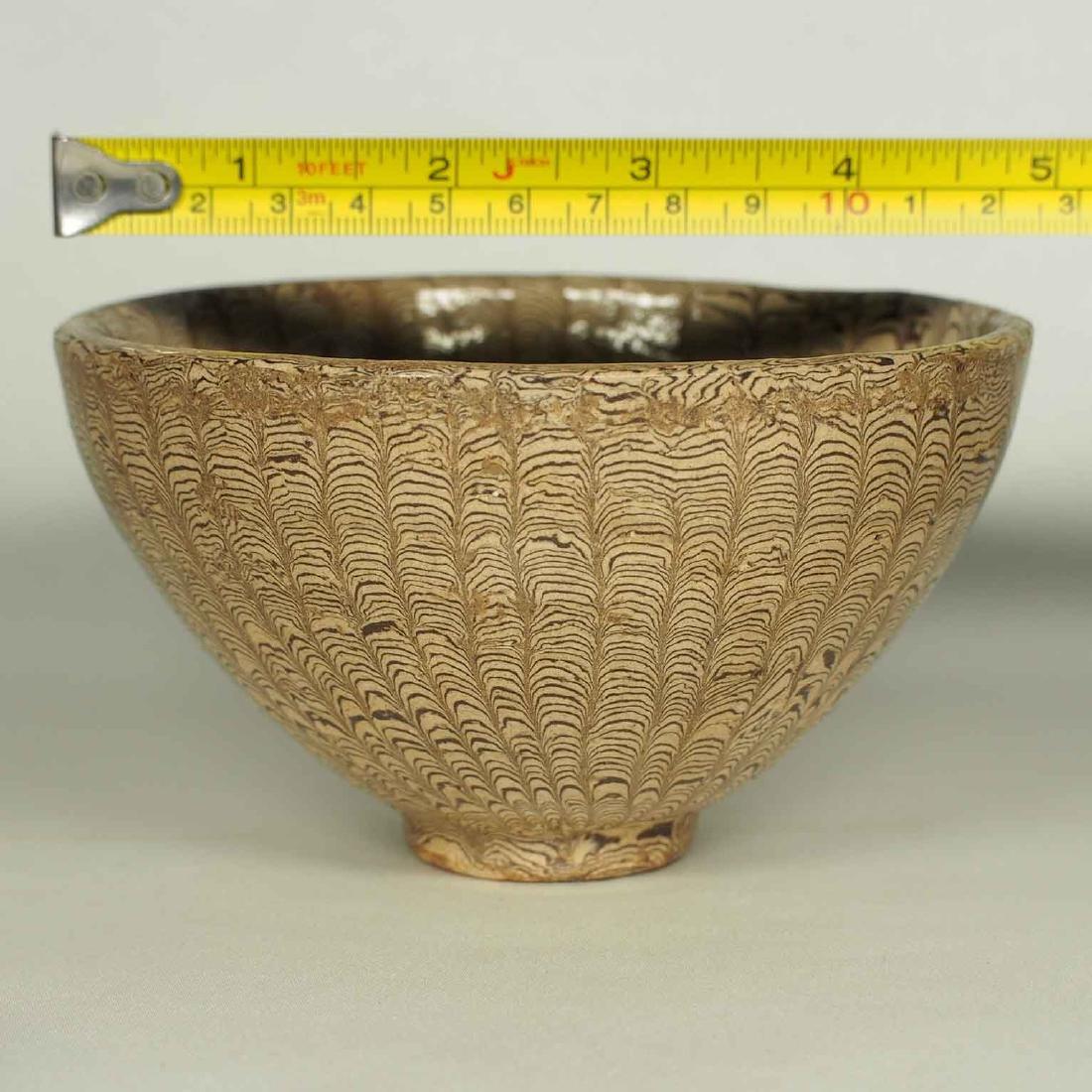 Twisted Marble-Glaze Bowl - 9