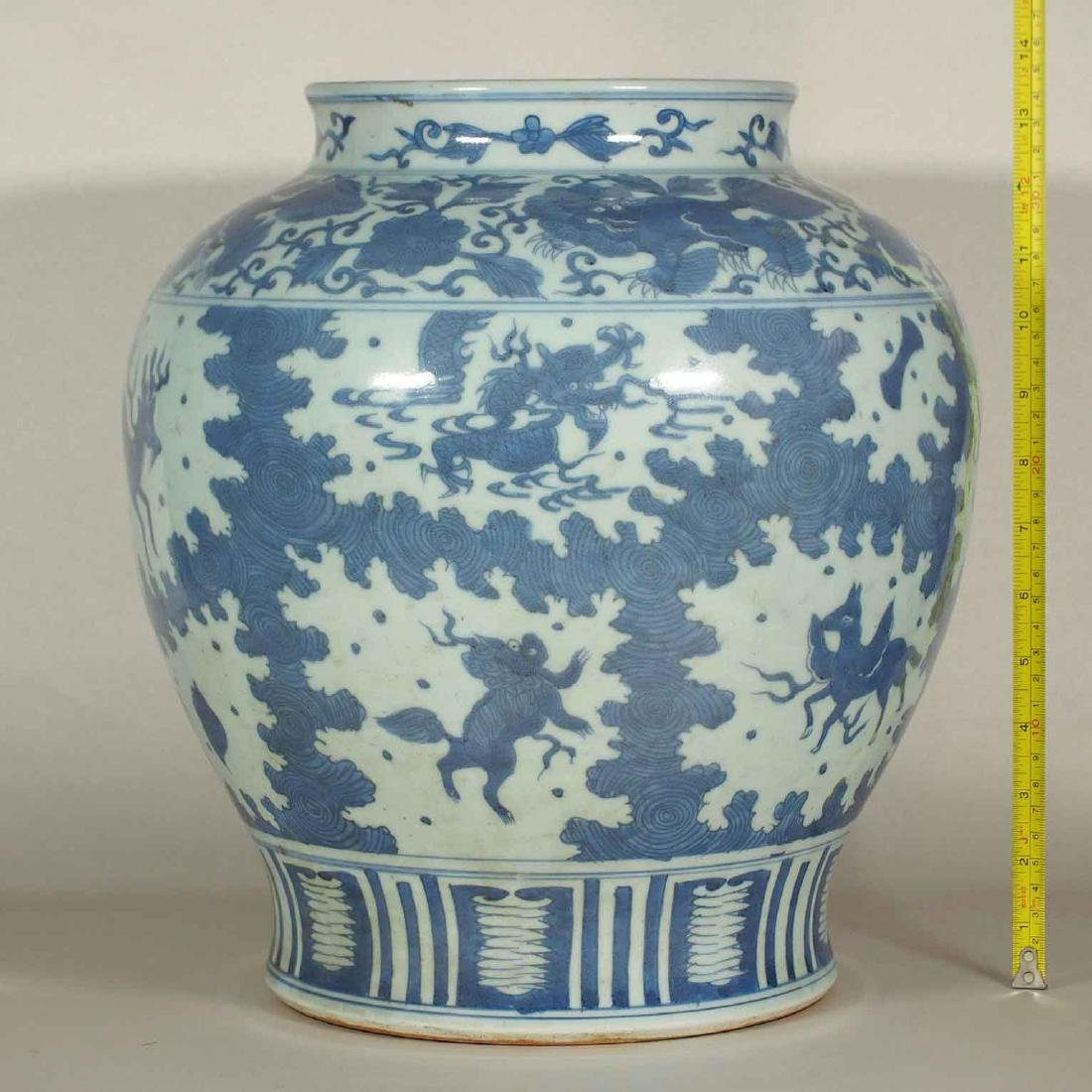 Large Jar with Mythical Beasts Design, late Ming - 10