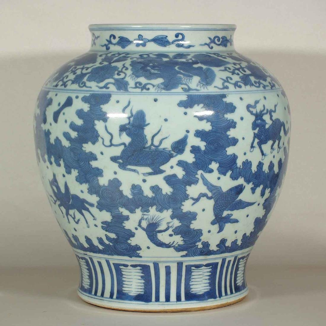 Large Jar with Mythical Beasts Design, late Ming - 3