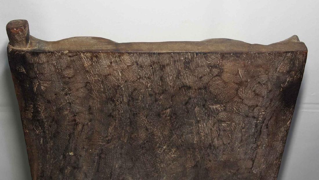 Antique Hand-Carved Solid Wood Window Shutter, Toraja - 5