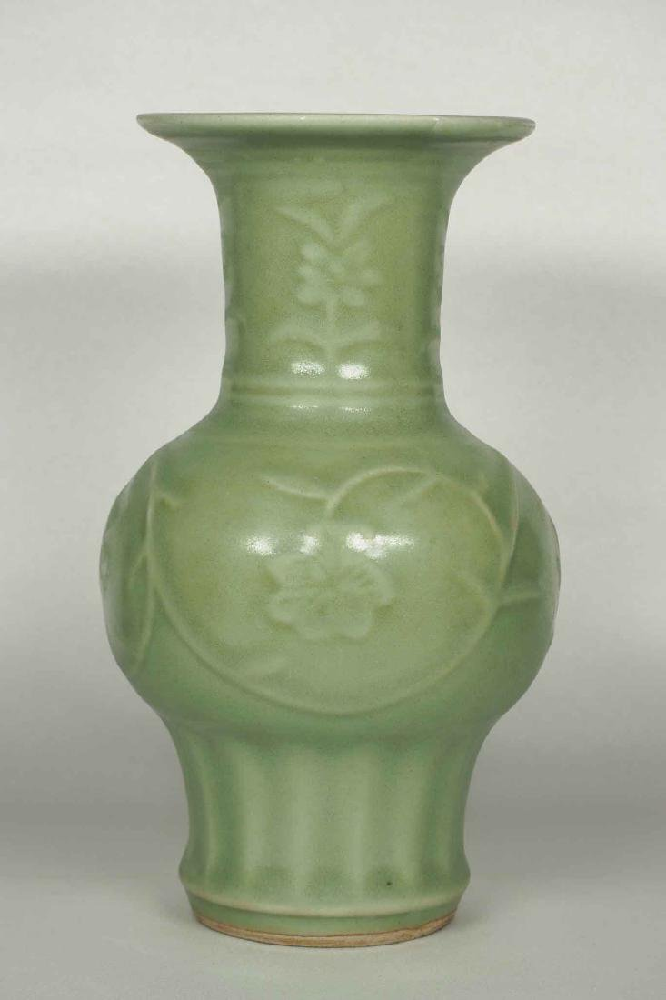Longquan Vase with Floral Scroll, early Ming Dynasty
