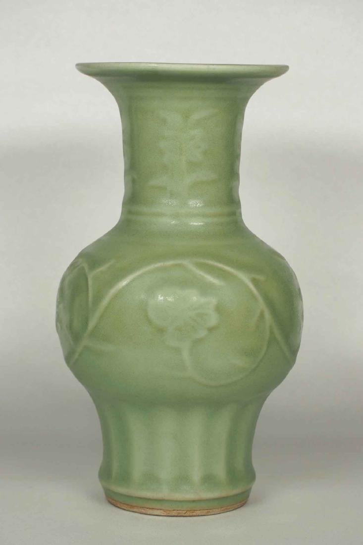 Longquan Vase with Floral Scroll, early Ming Dynasty - 2