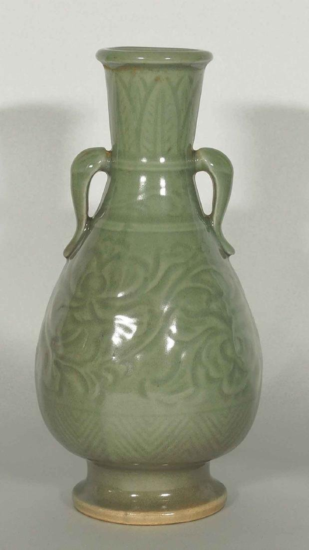Yaozhou Vase with Carved Peony Scroll, Song Dynasty - 2