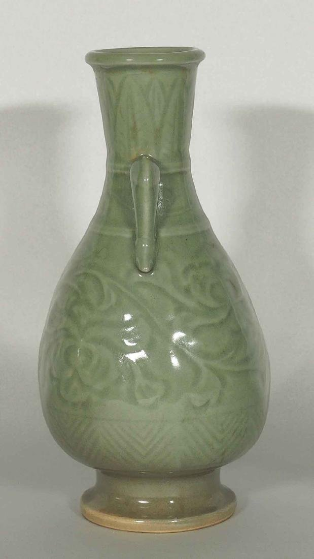 Yaozhou Vase with Carved Peony Scroll, Song Dynasty - 3