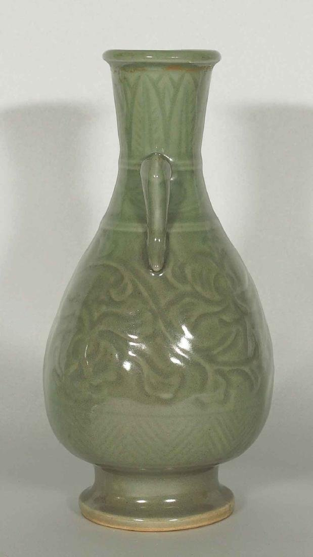 Yaozhou Vase with Carved Peony Scroll, Song Dynasty - 4
