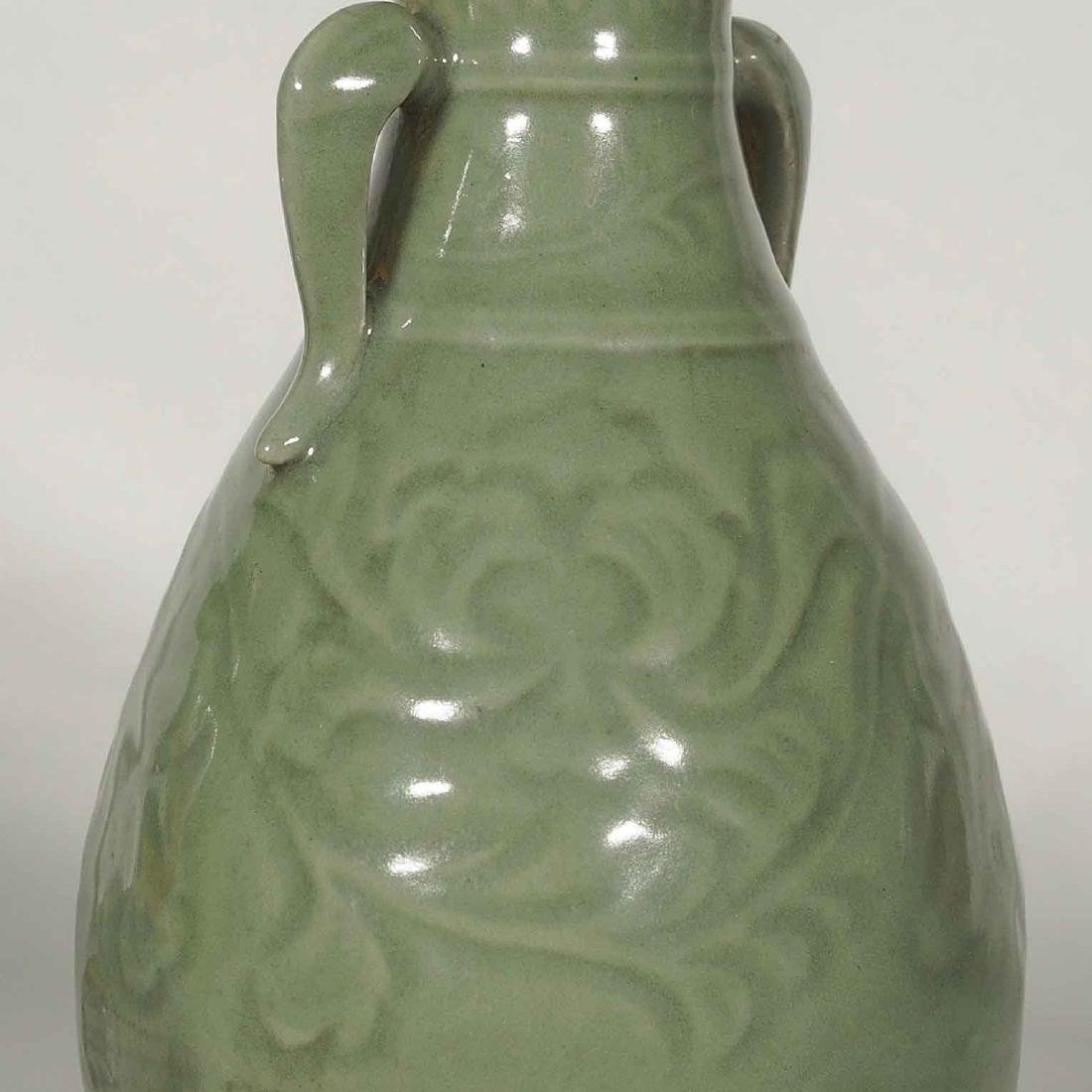 Yaozhou Vase with Carved Peony Scroll, Song Dynasty - 5