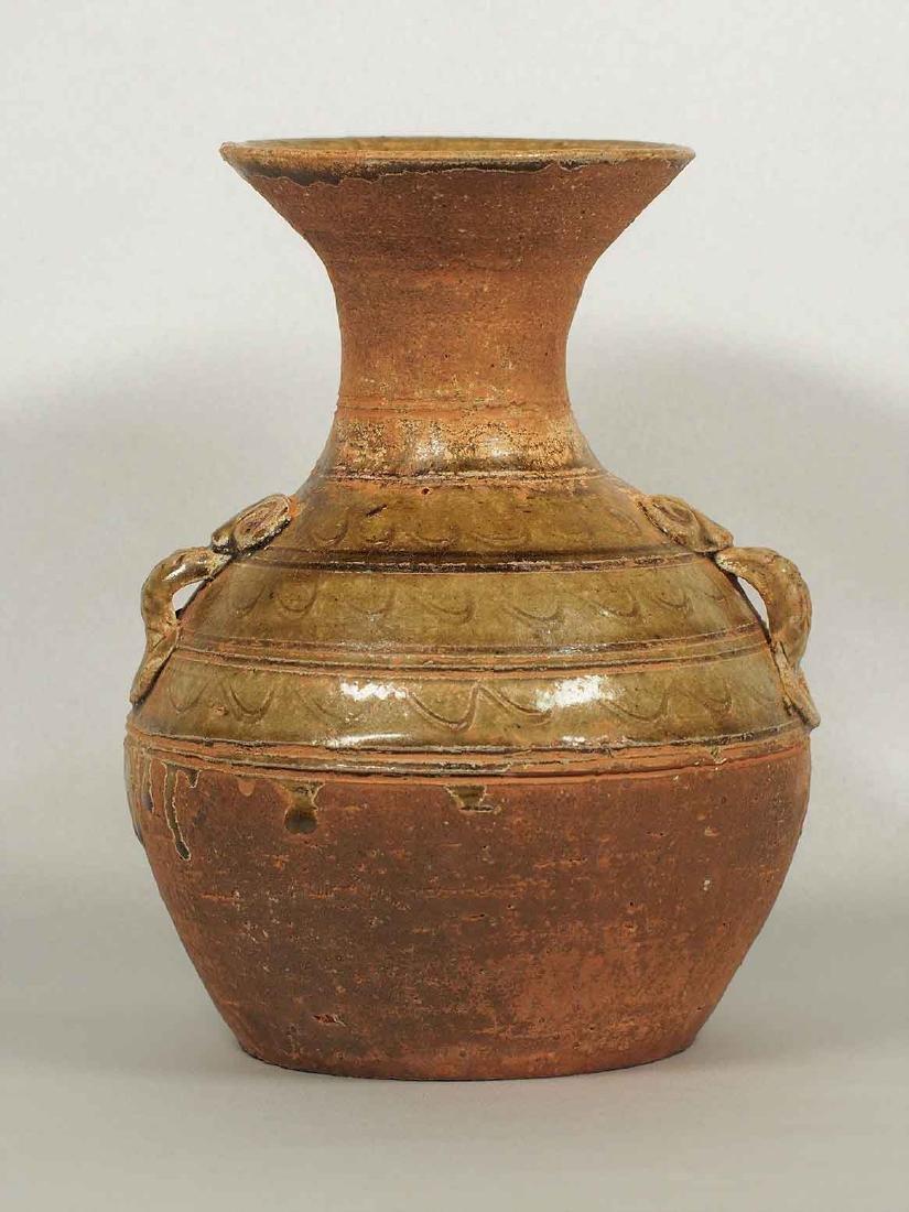 Proto-Porcelain Hu-form Jar, early Han Dynasty