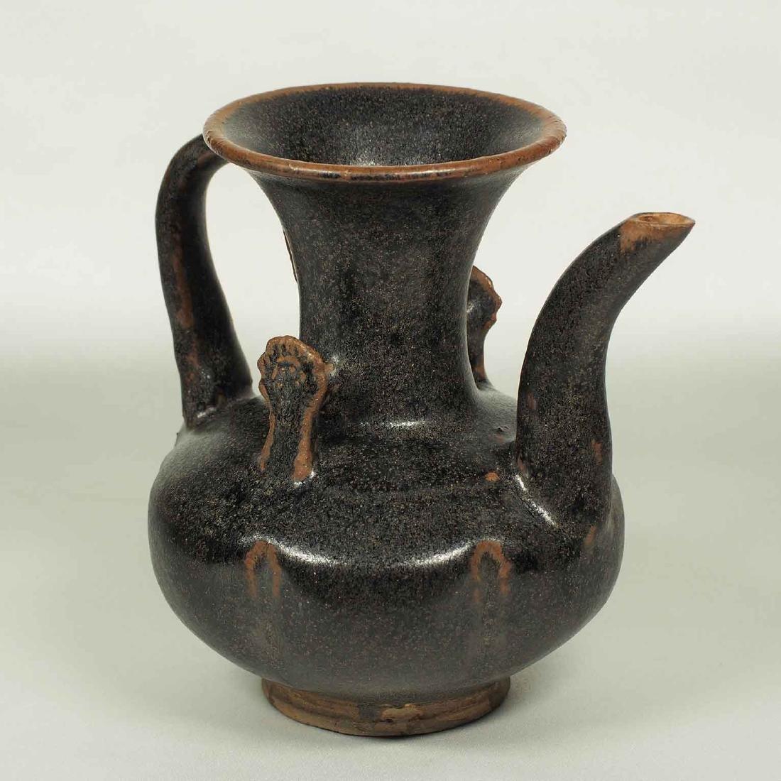 Black glaze ewer, Song Dynasty. Lobbed Ewer