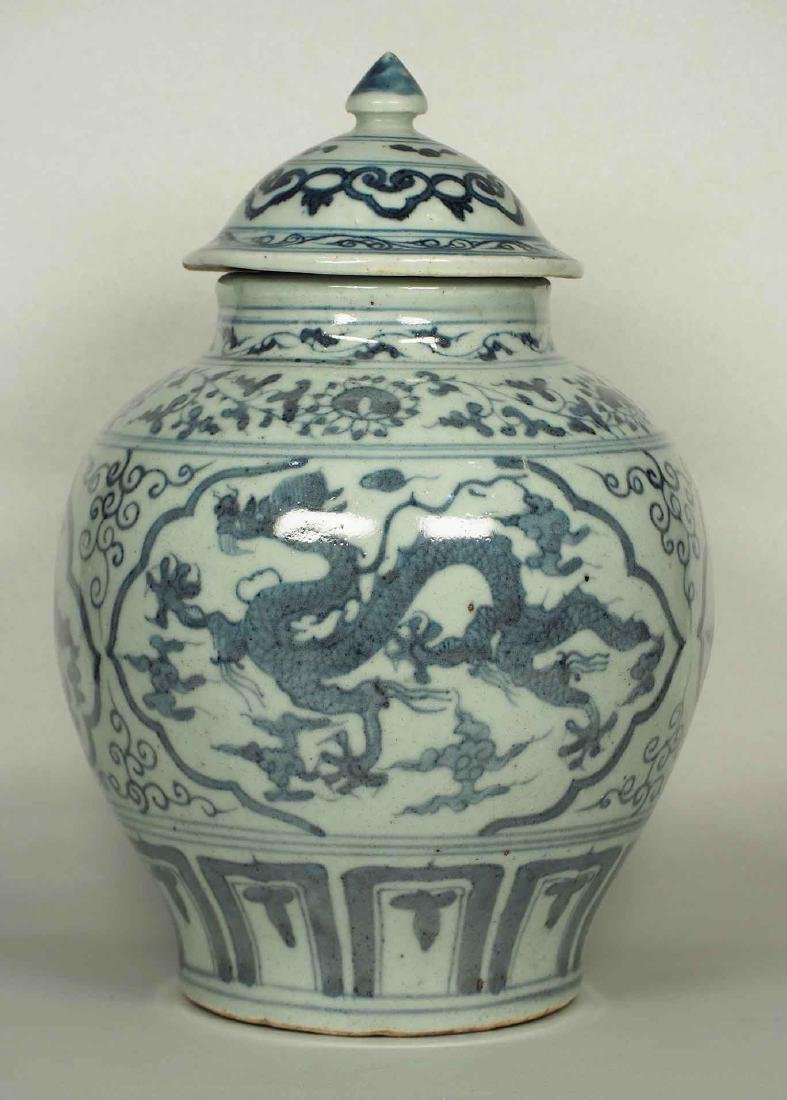 Lidded Jar with Dragon Design, Wanli, Ming Dynasty.