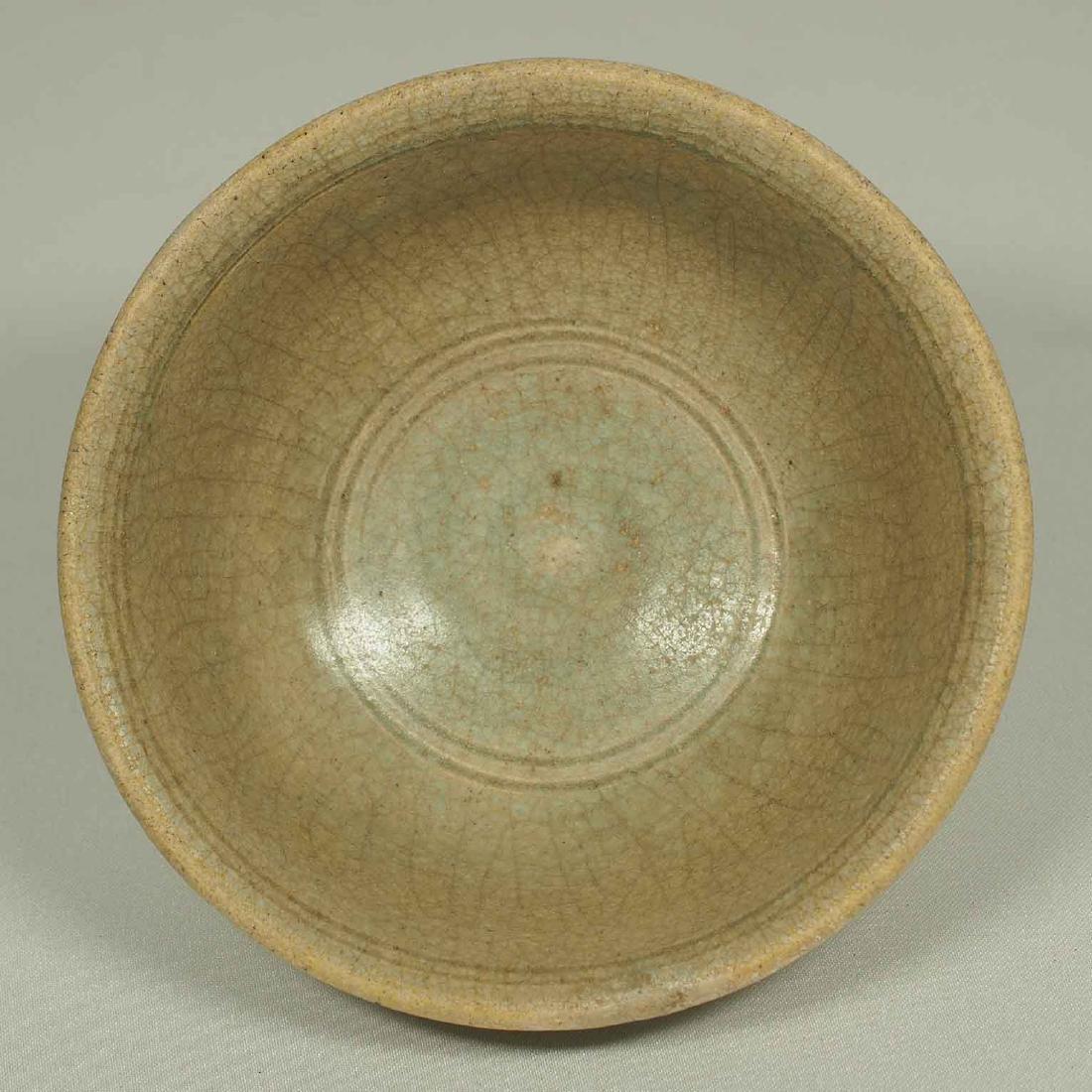 Celadon Crackled Bowl, Annamese