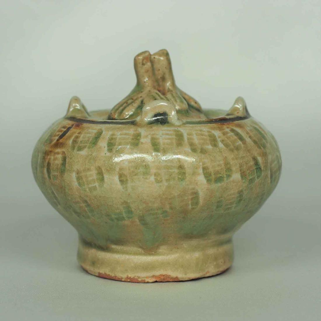 Lidded Water Pot with Brown Spot, Eastern Jin Dynasty