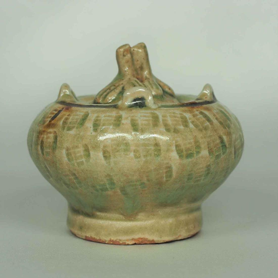 Lidded Water Pot with Brown Spot, Eastern Jin Dynasty