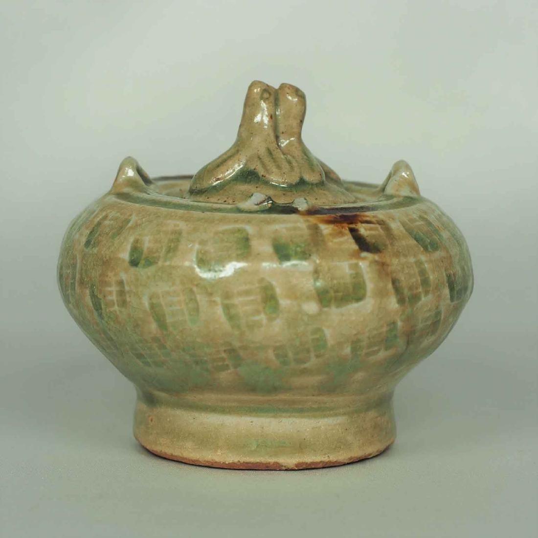 Lidded Water Pot with Brown Spot, Eastern Jin Dynasty - 2