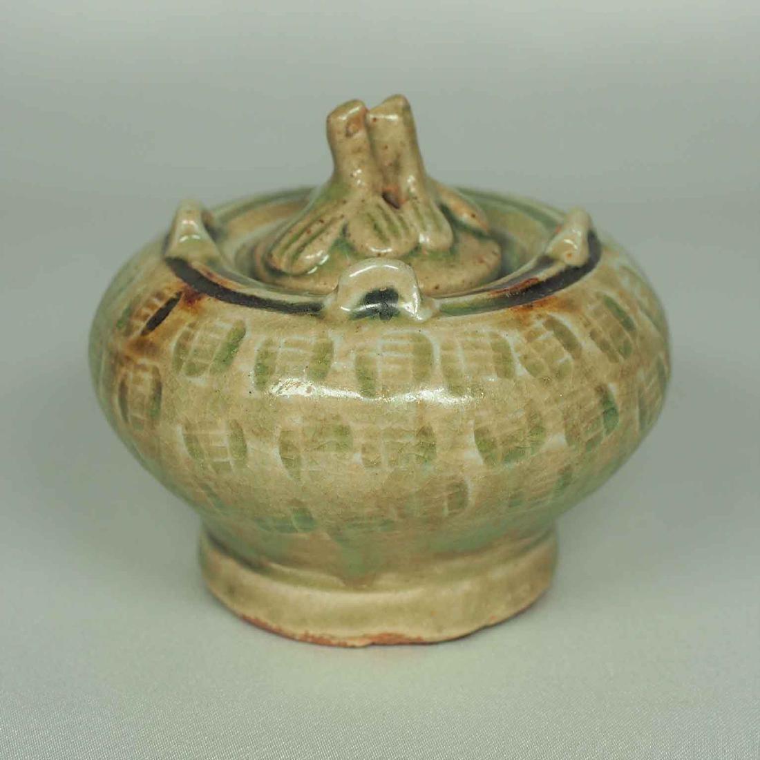 Lidded Water Pot with Brown Spot, Eastern Jin Dynasty - 3
