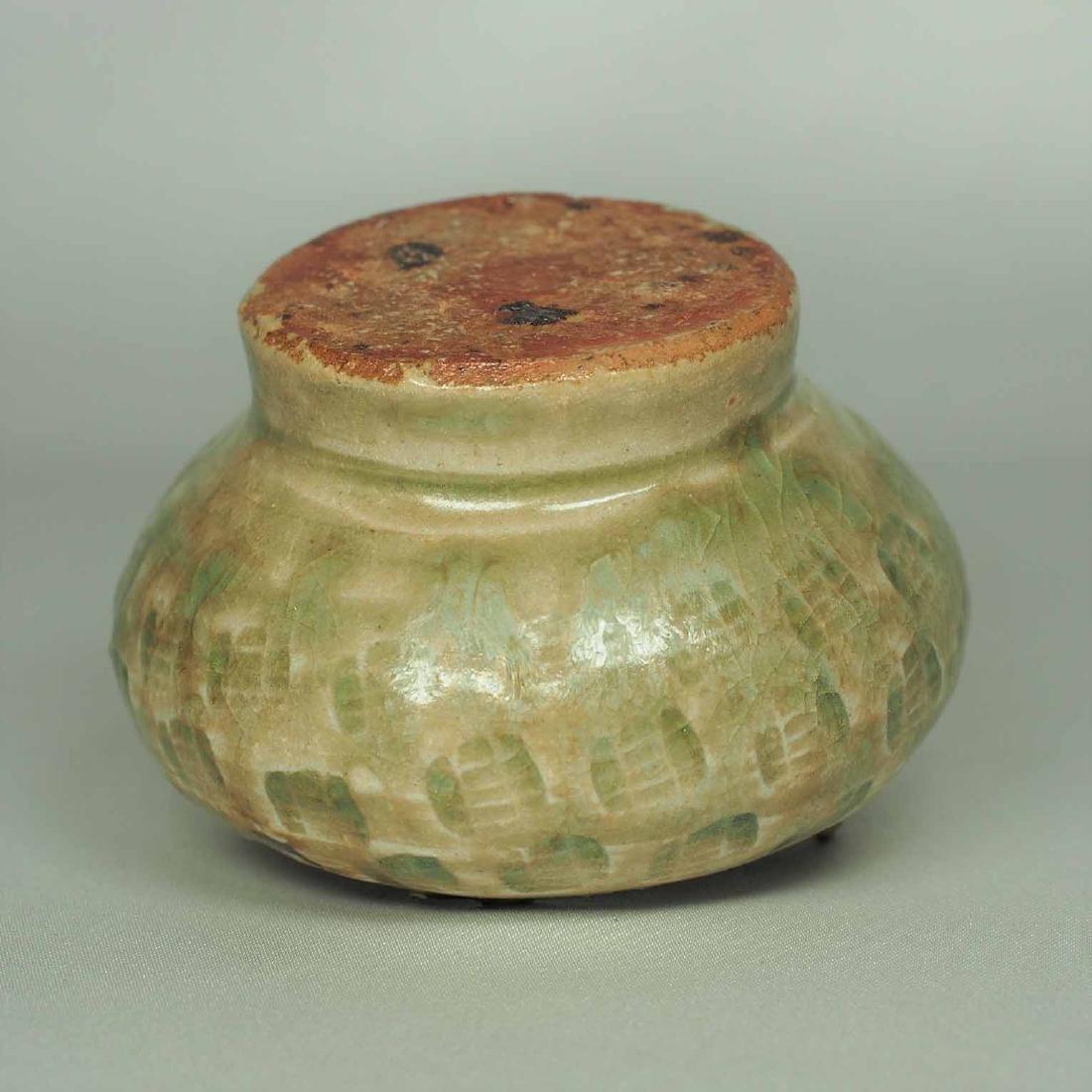 Lidded Water Pot with Brown Spot, Eastern Jin Dynasty - 8