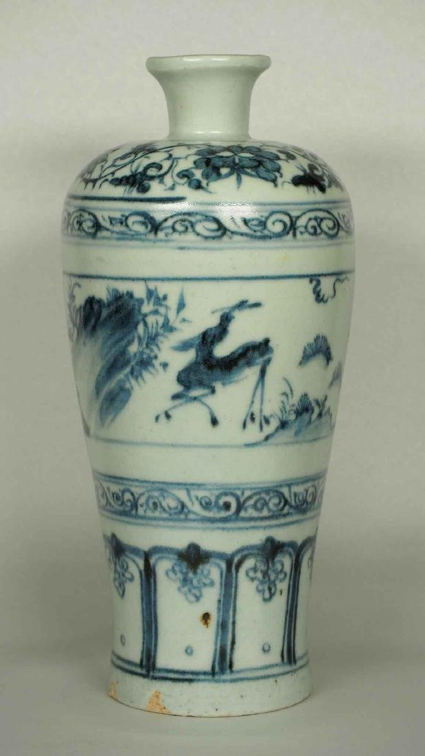 Meiping with Dear in a Garden, early Ming Dynasty