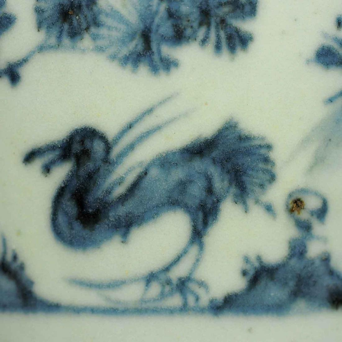 Meiping with Dear in a Garden, early Ming Dynasty - 6