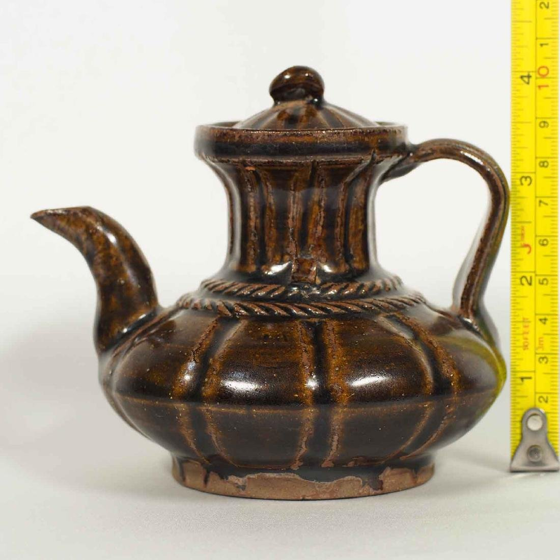 Black glazed Arabic Style Ewer with Lid, Song Dynasty - 12