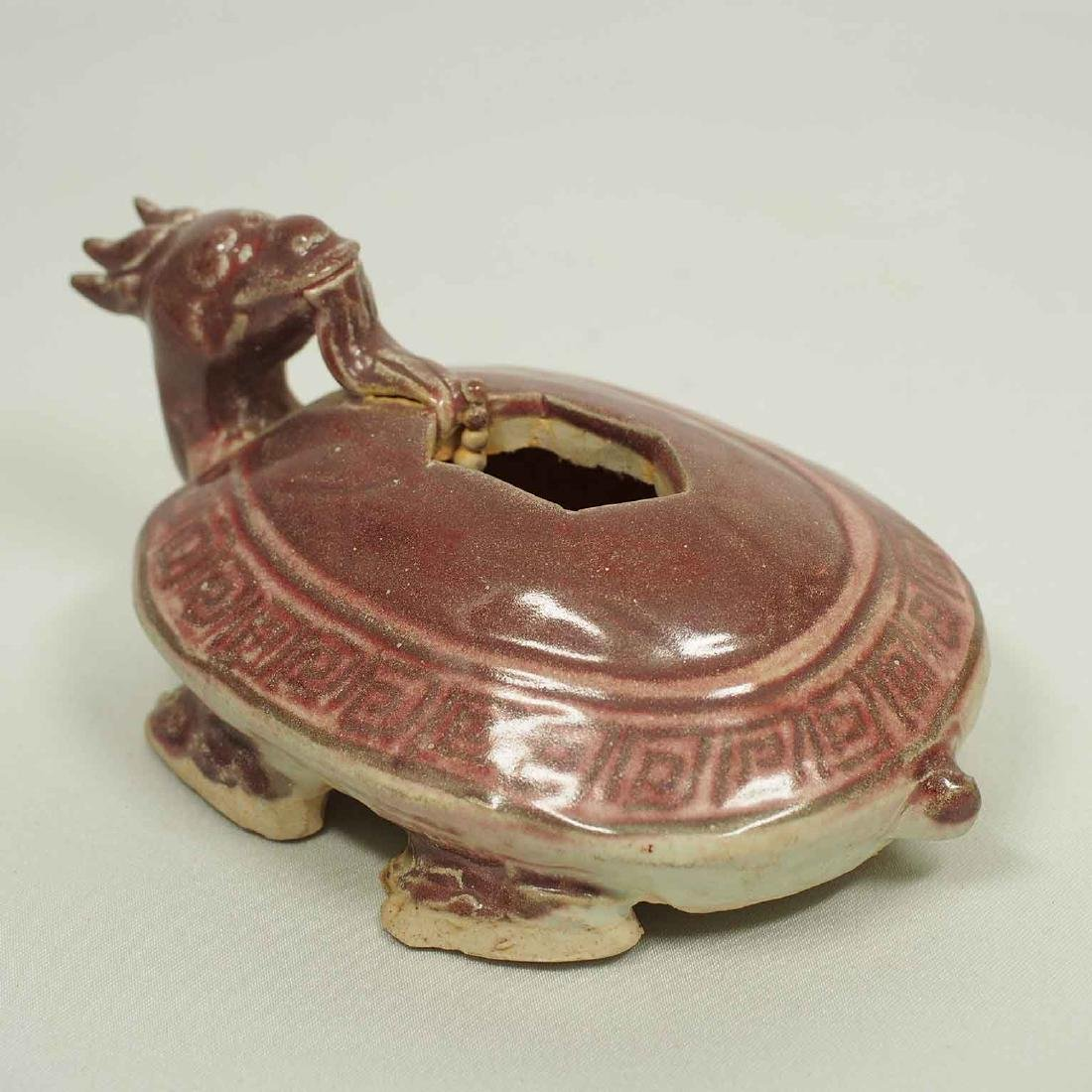 Scholar's Dragon-Turtle Form Waterpot, Ming Dynasty