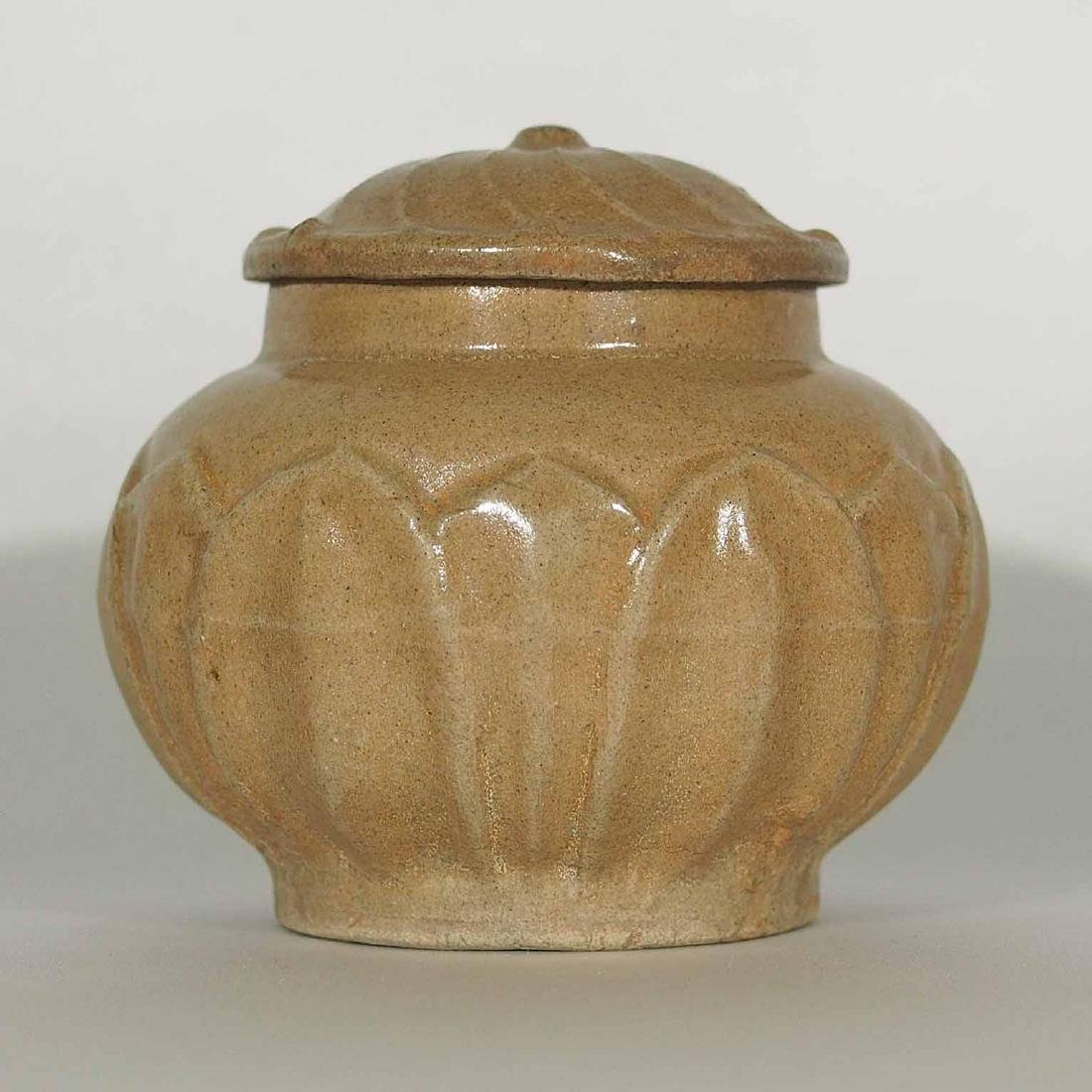 Lidded Jar with Moulded Lotus, Southern Song Dynasty