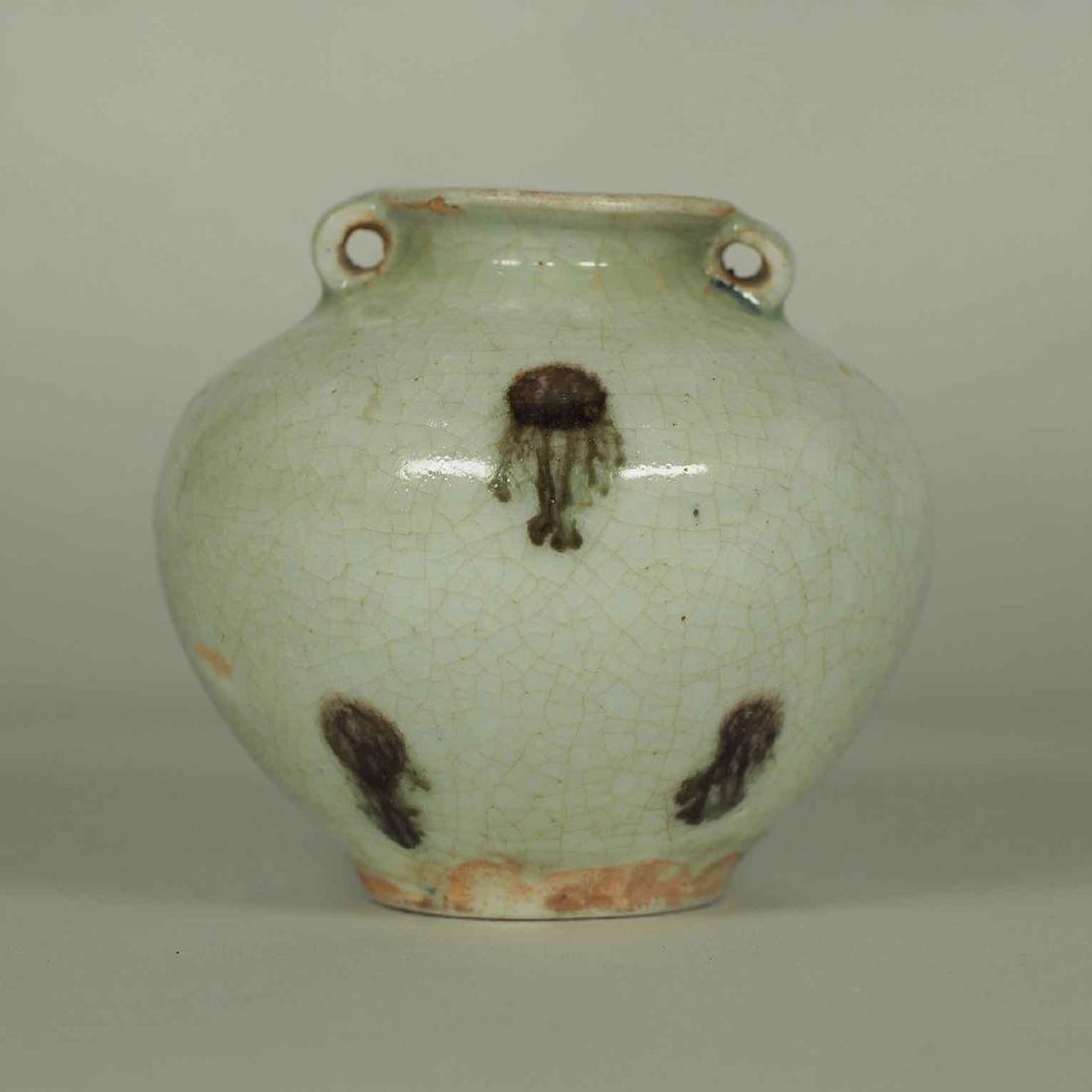 Qingbai Iron-Spots Jarlet, Yuan Dynasty