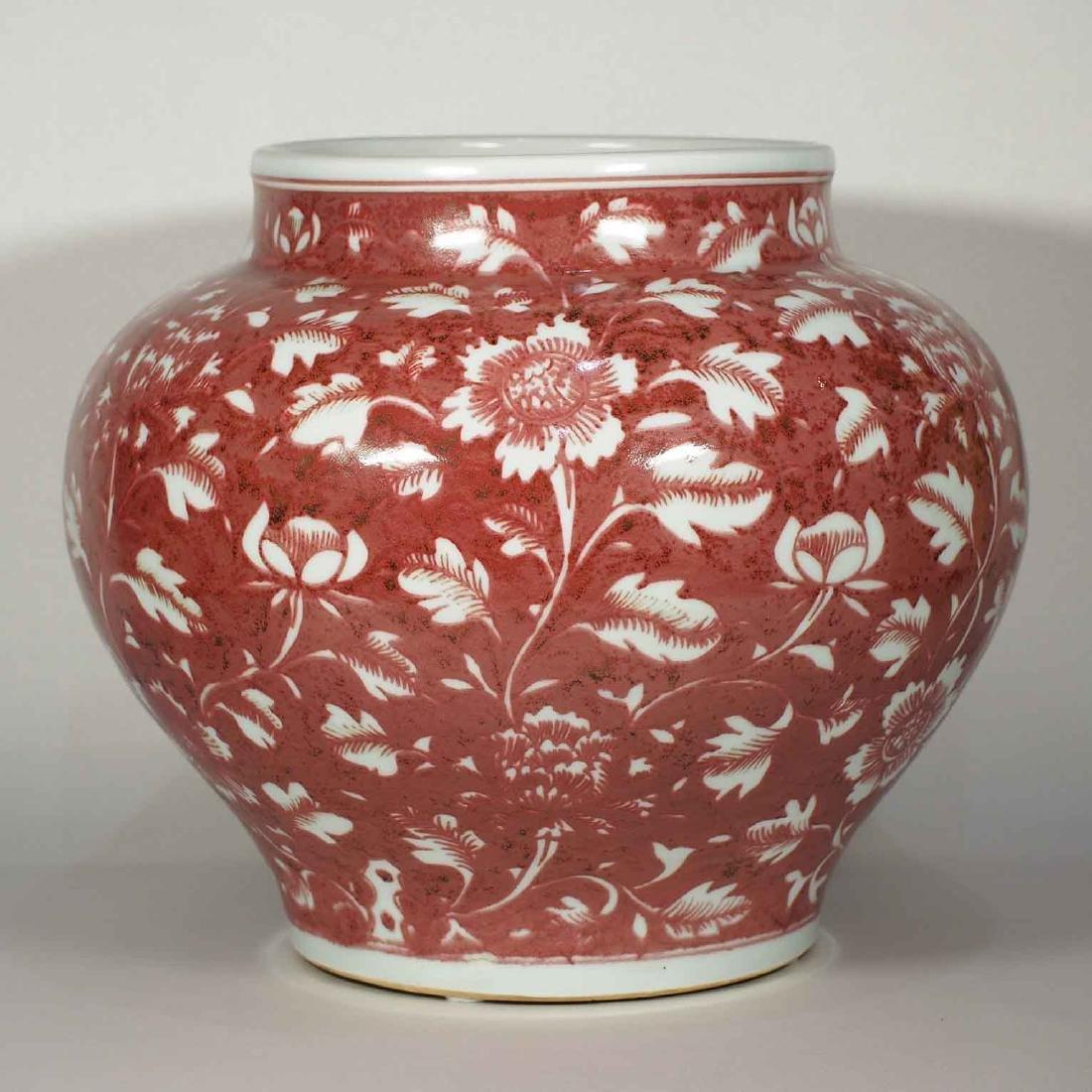 (TL) Jar with Peony, Hongwu, Ming Dynasty + TL