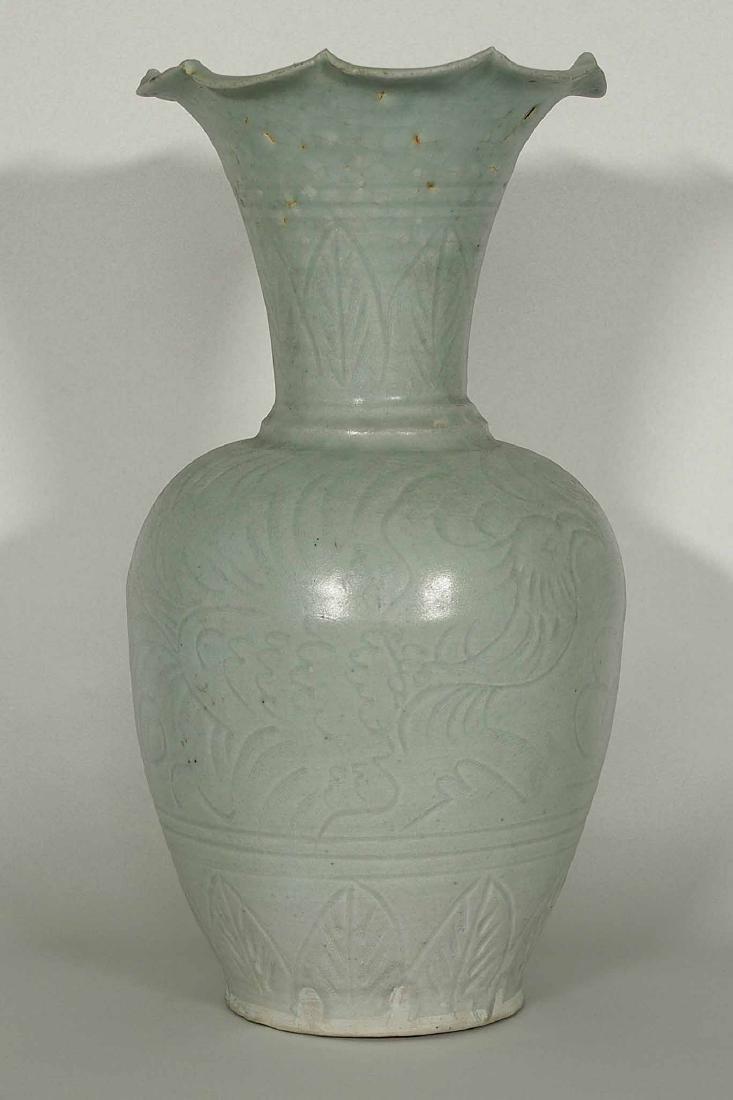 Qingbai Foliated-rim Vase, Song Dynasty