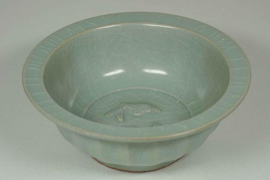 Longquan Bowl with Twin Fish and Lotus Design, Southern - 4