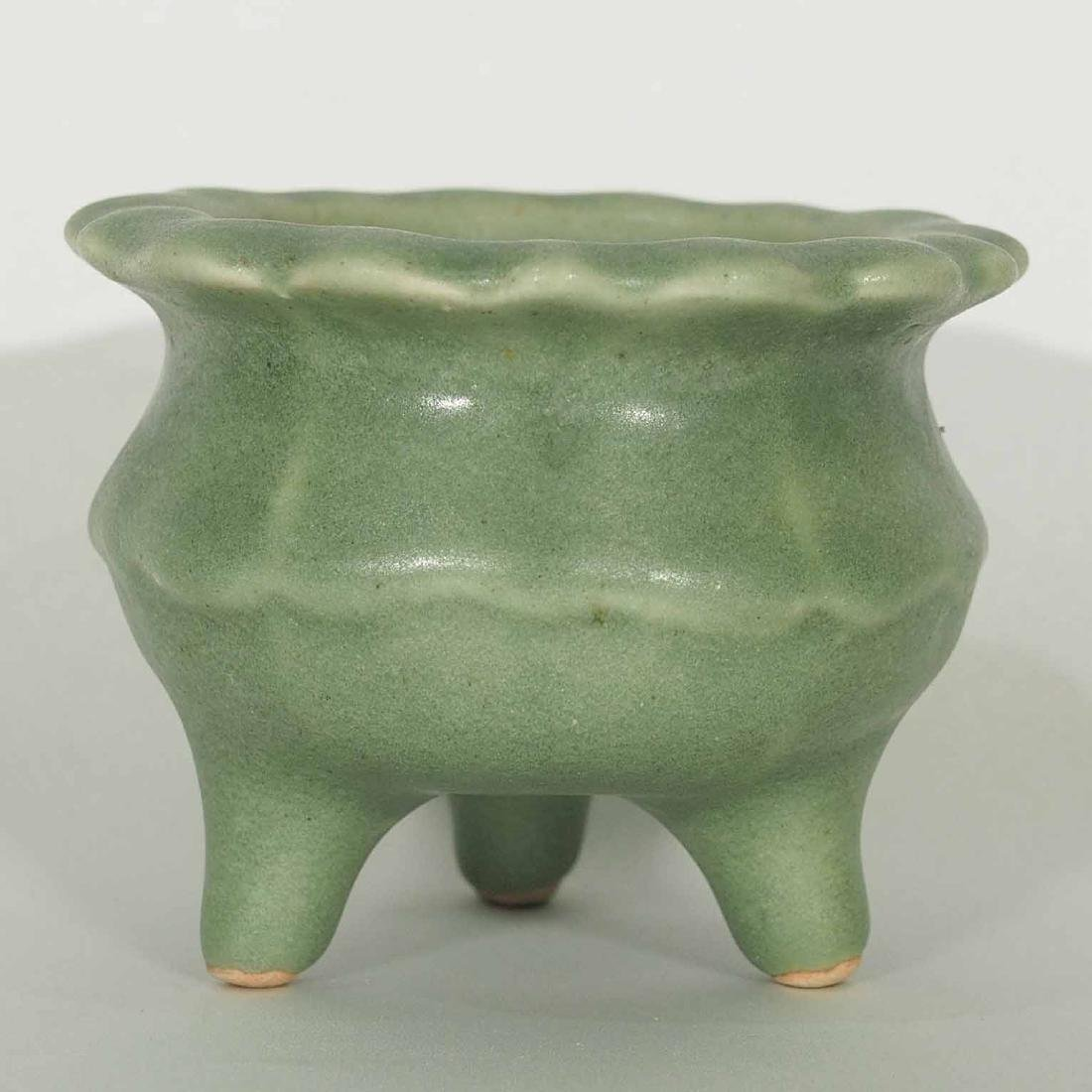 Longquan Foliated-Rim Tripod Censer, mid Ming Dynasty - 2