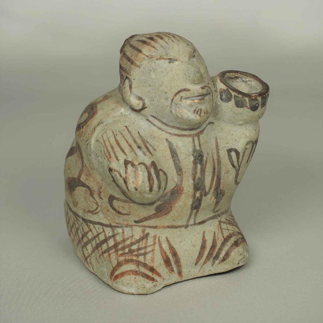 Cizhou Human-Form Water Pot, Song Dynasty