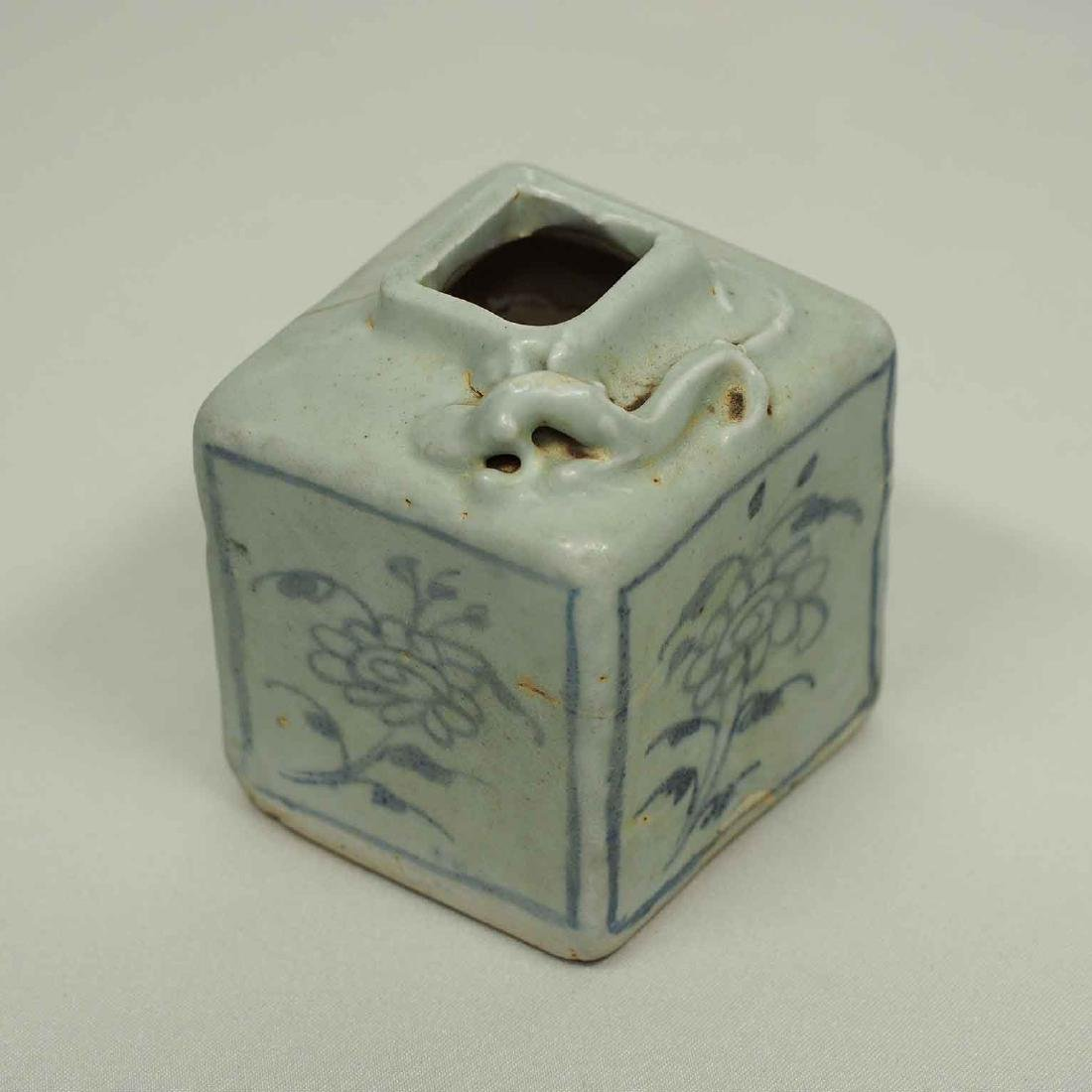 Square Jarlet with Single Dragon, Yuan Dynasty