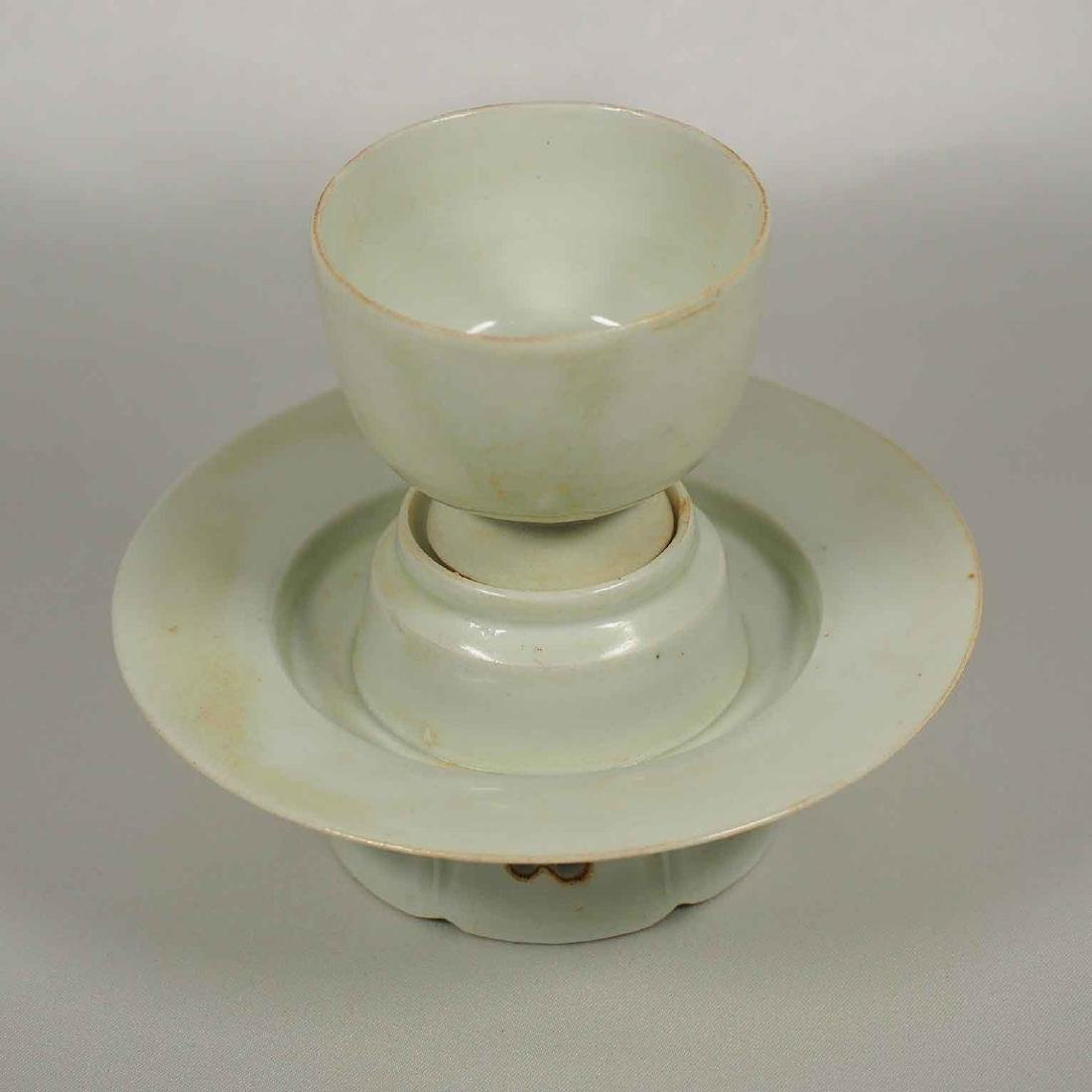 Yingqing Qingbai Cup and Stand, Song Dynasty