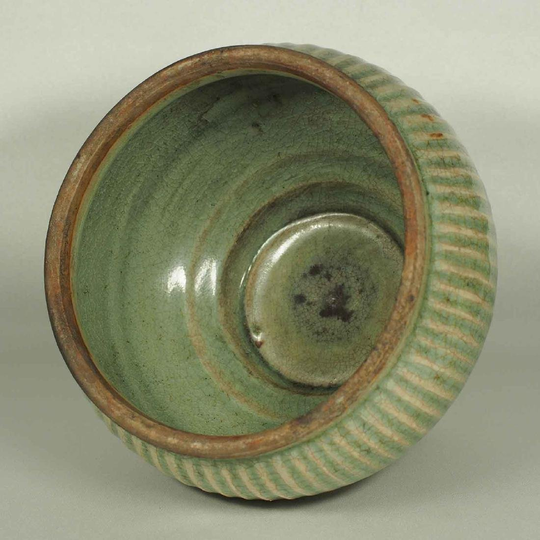 Longquan Fluted Jar with Lid, late Southern Song-early - 7