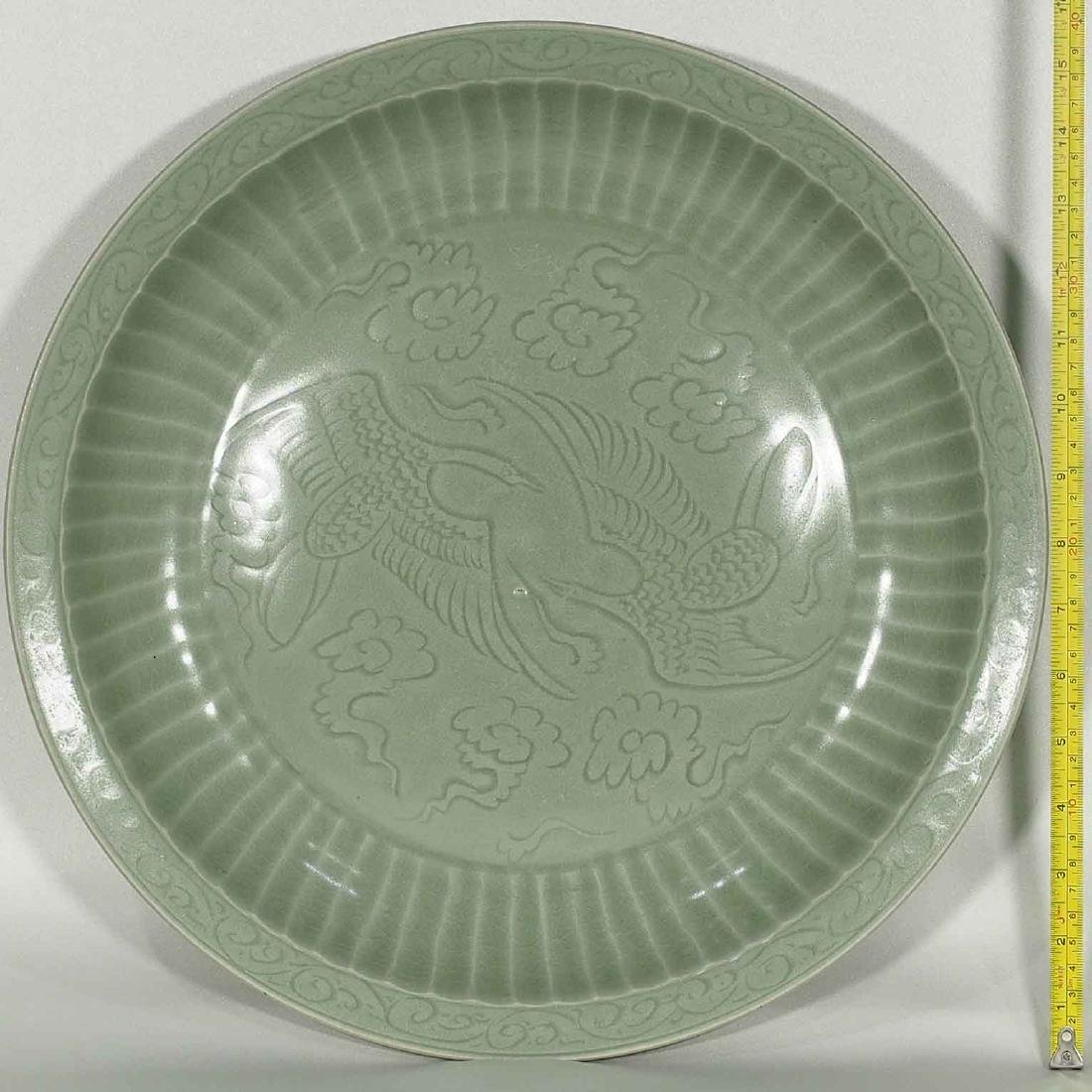 Longquan Fluted Charger, early Ming Dynasty - 6