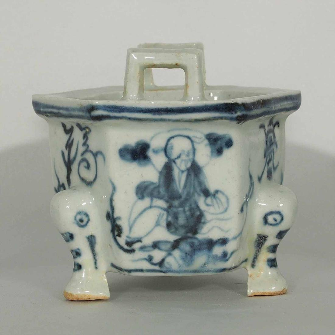 Hexagonal Tripod Censer, 16th Century, Ming Dynasty