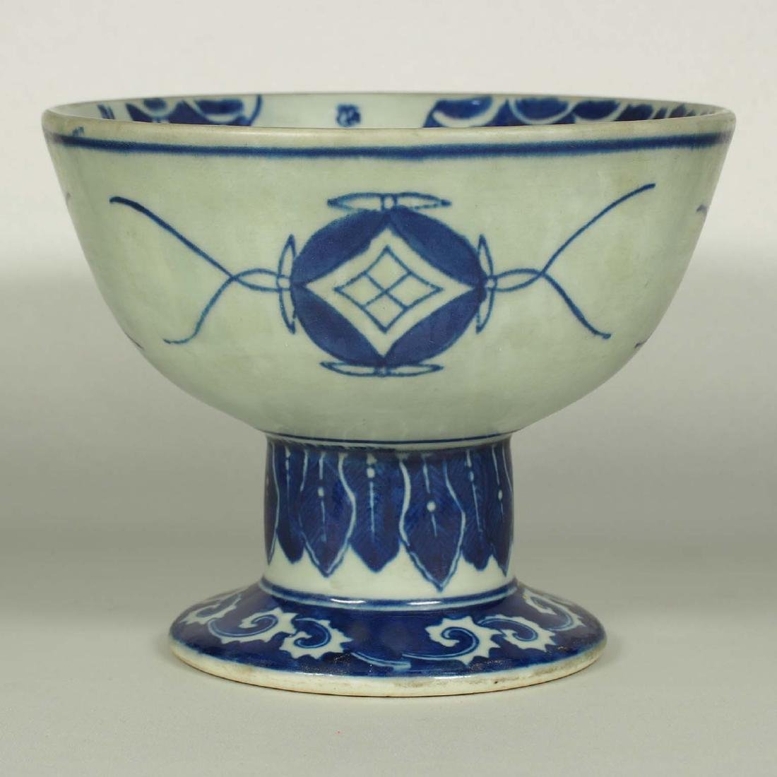 Stembowl with Territorial Map, late Qing Dynasty - 2