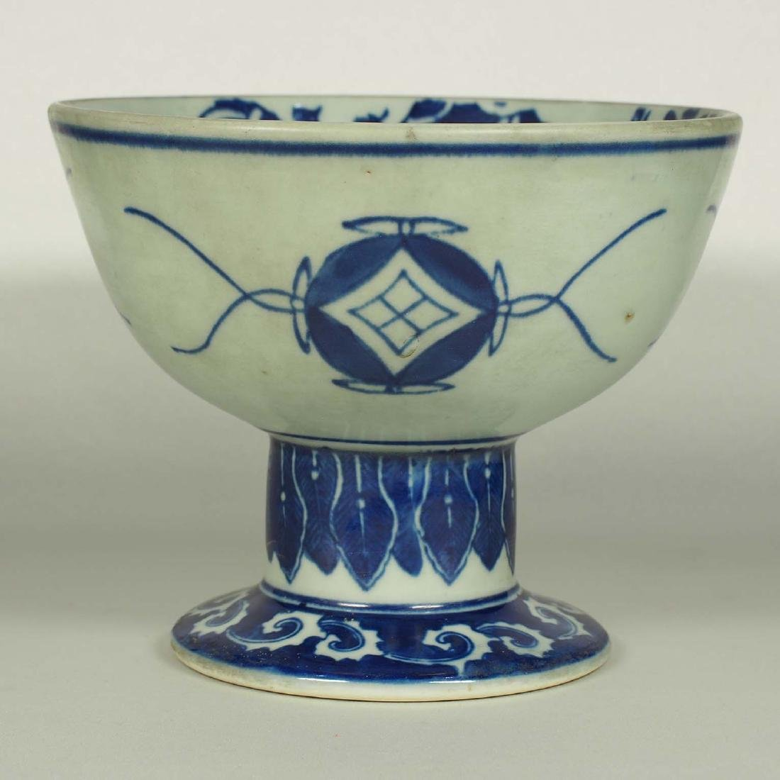 Stembowl with Territorial Map, late Qing Dynasty - 3