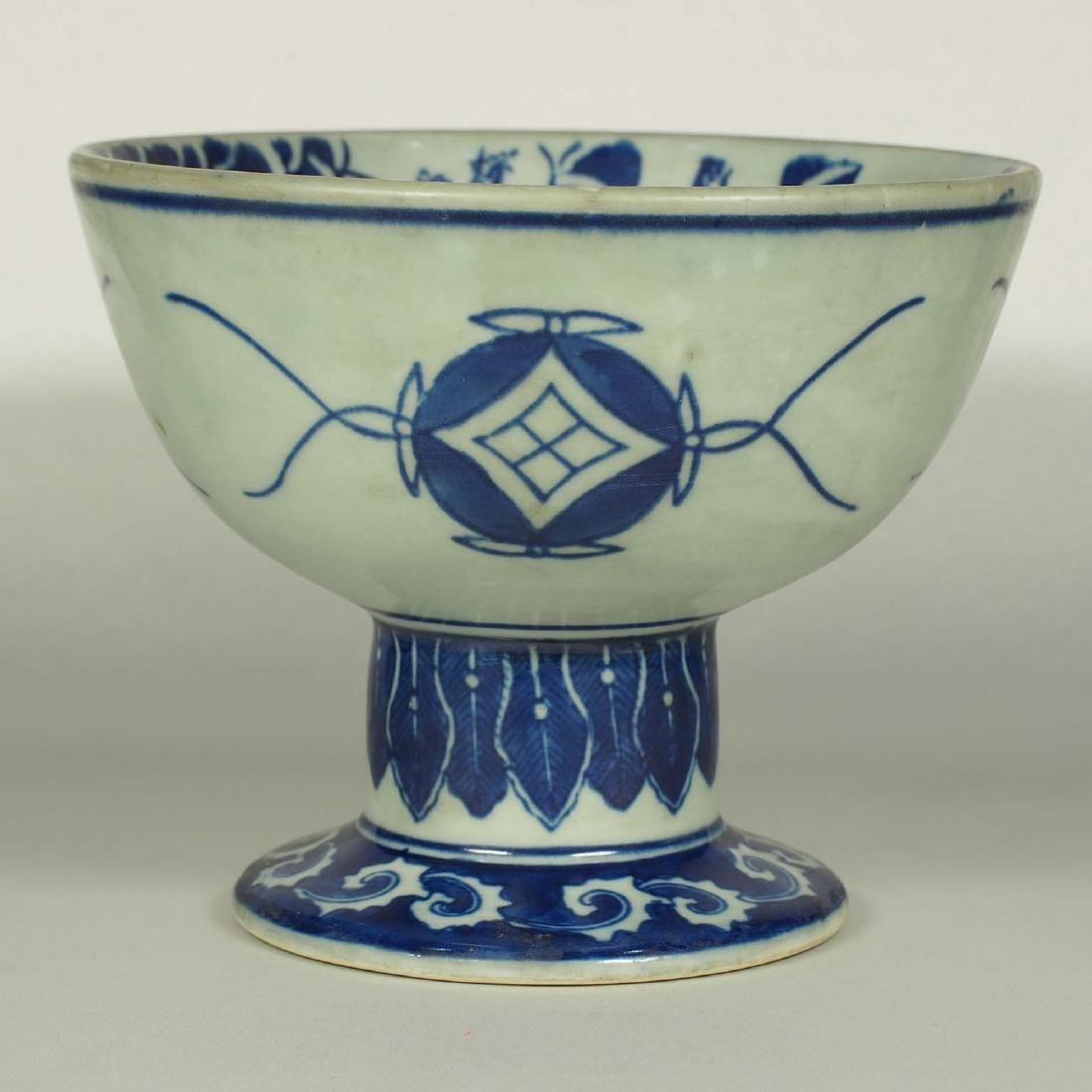 Stembowl with Territorial Map, late Qing Dynasty - 4