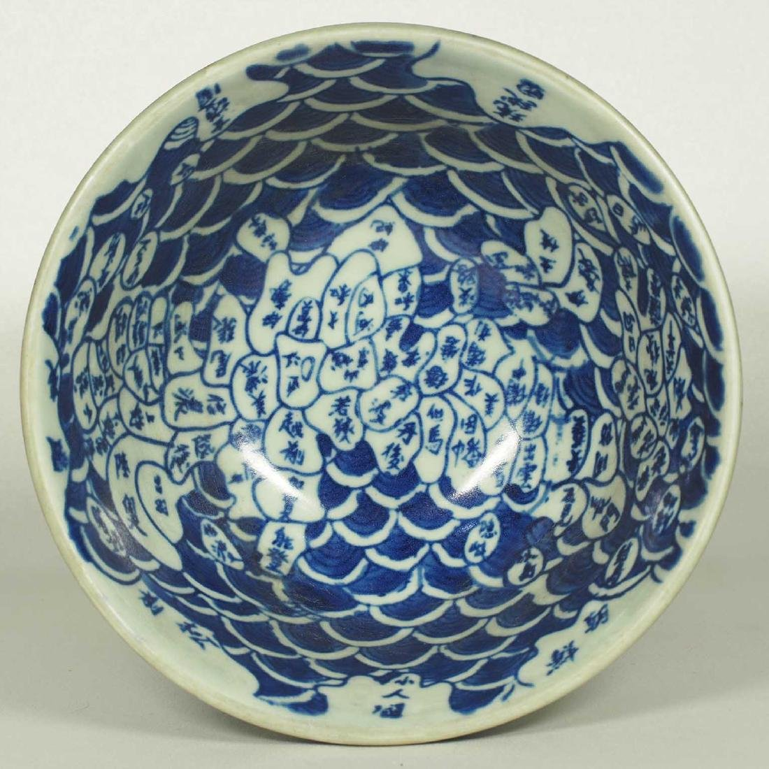 Stembowl with Territorial Map, late Qing Dynasty - 5