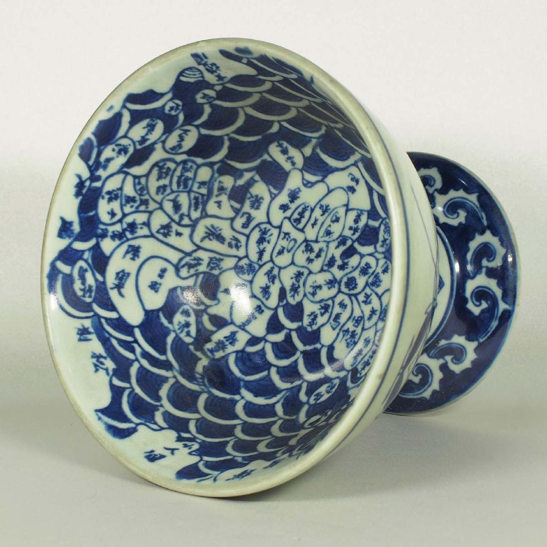 Stembowl with Territorial Map, late Qing Dynasty - 6