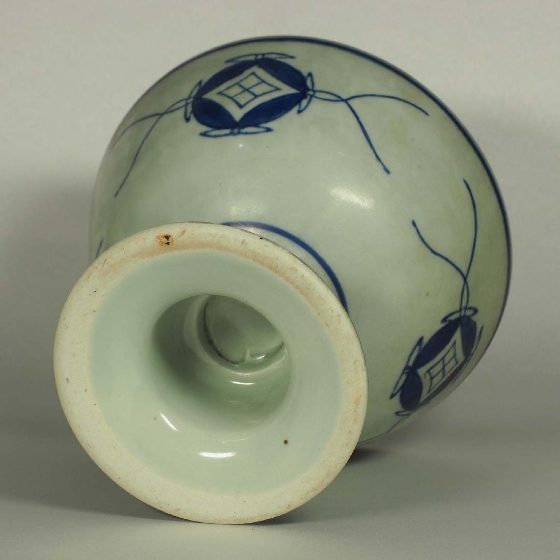 Stembowl with Territorial Map, late Qing Dynasty - 7