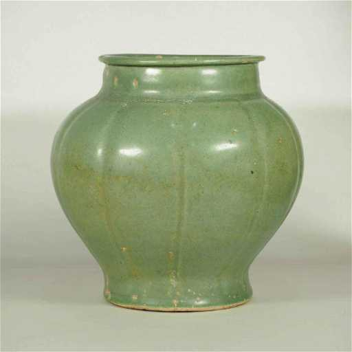 Longquan Celadon Lobed Jar Early Ming Dynasty