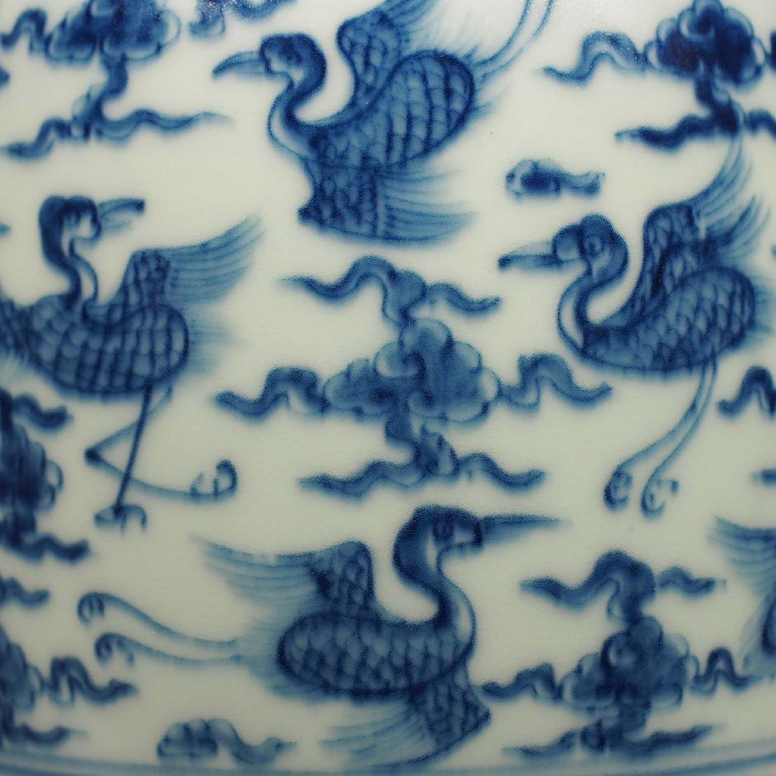 Vase with Flying Cranes Design, Ming Dynasty - 3