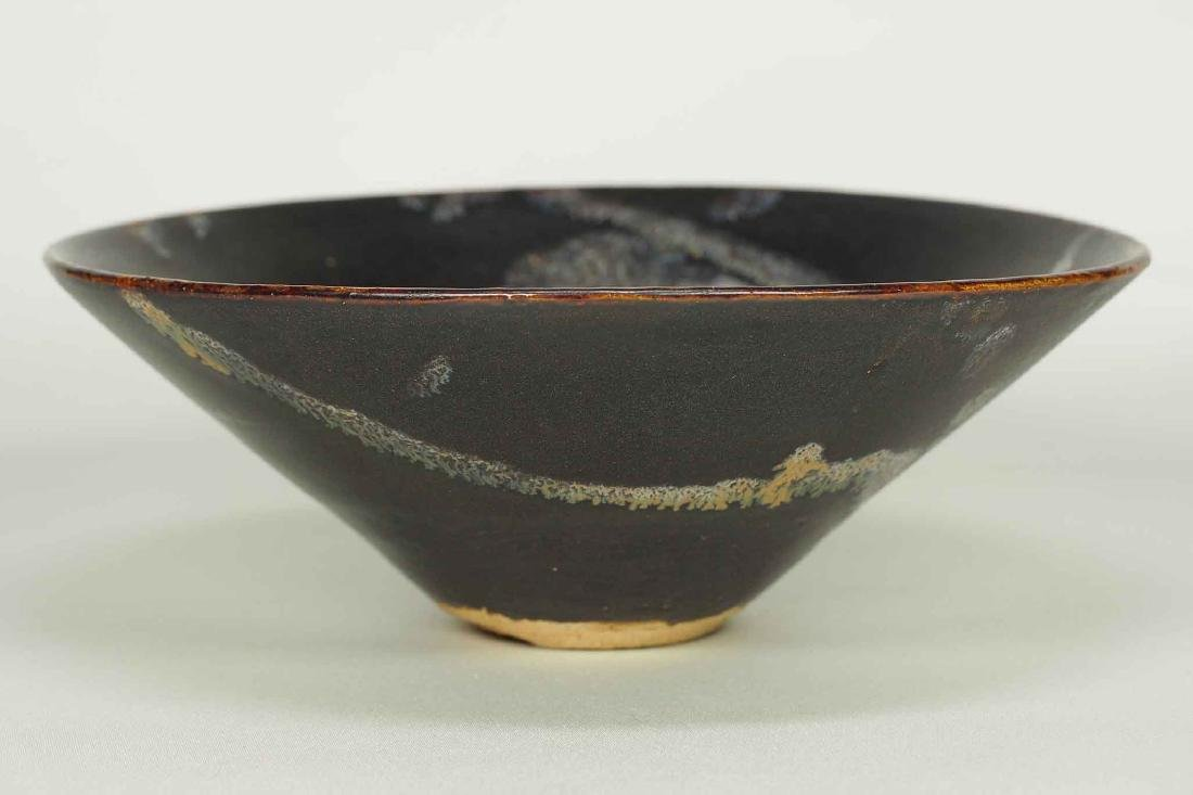 Jizhou Conical Bowl with Abstract Design, Song Dynasty - 2