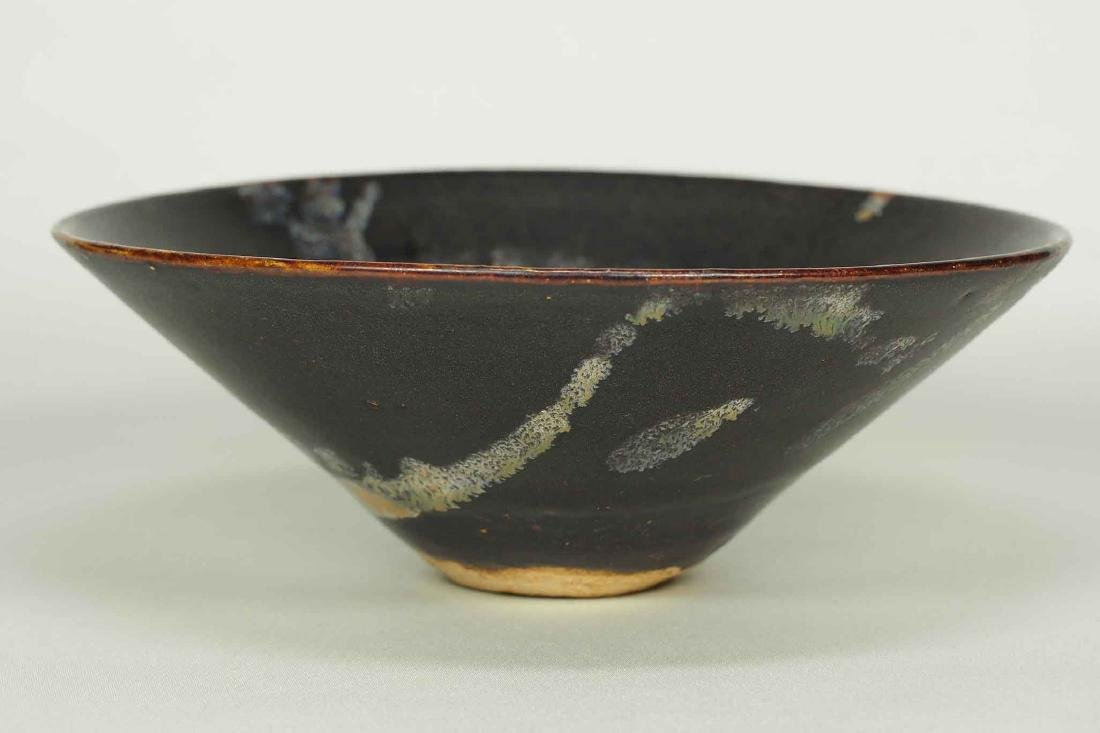 Jizhou Conical Bowl with Abstract Design, Song Dynasty - 3