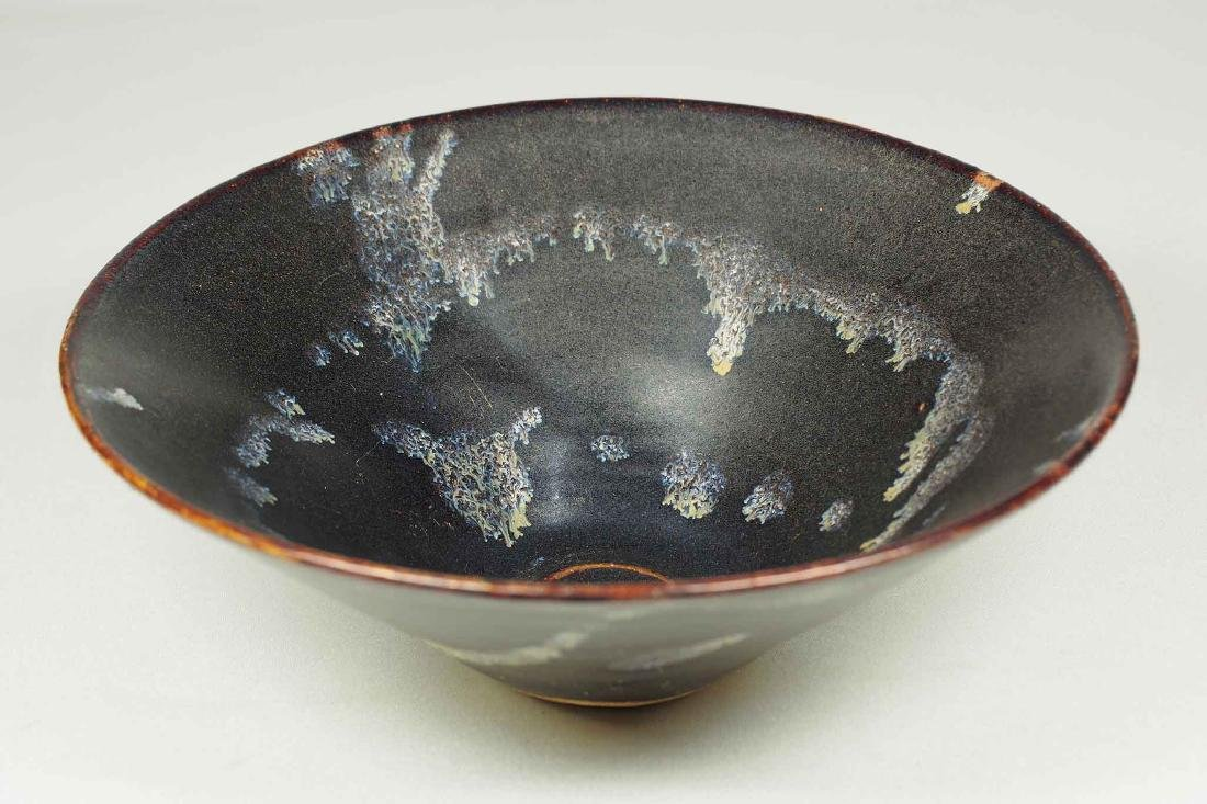 Jizhou Conical Bowl with Abstract Design, Song Dynasty - 4