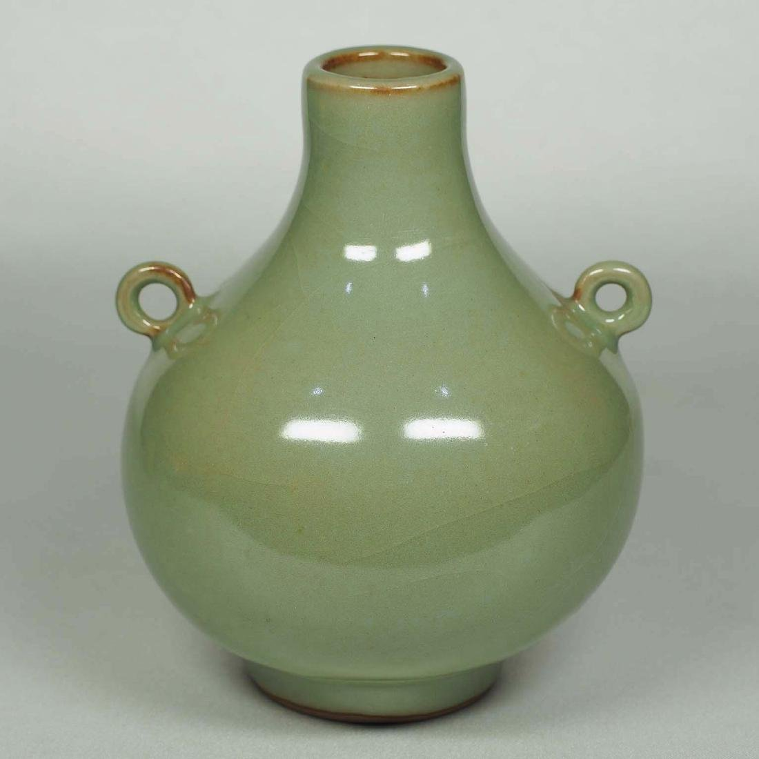 Longquan Lidded Bottle with Two Ring Lugs, Southern - 3